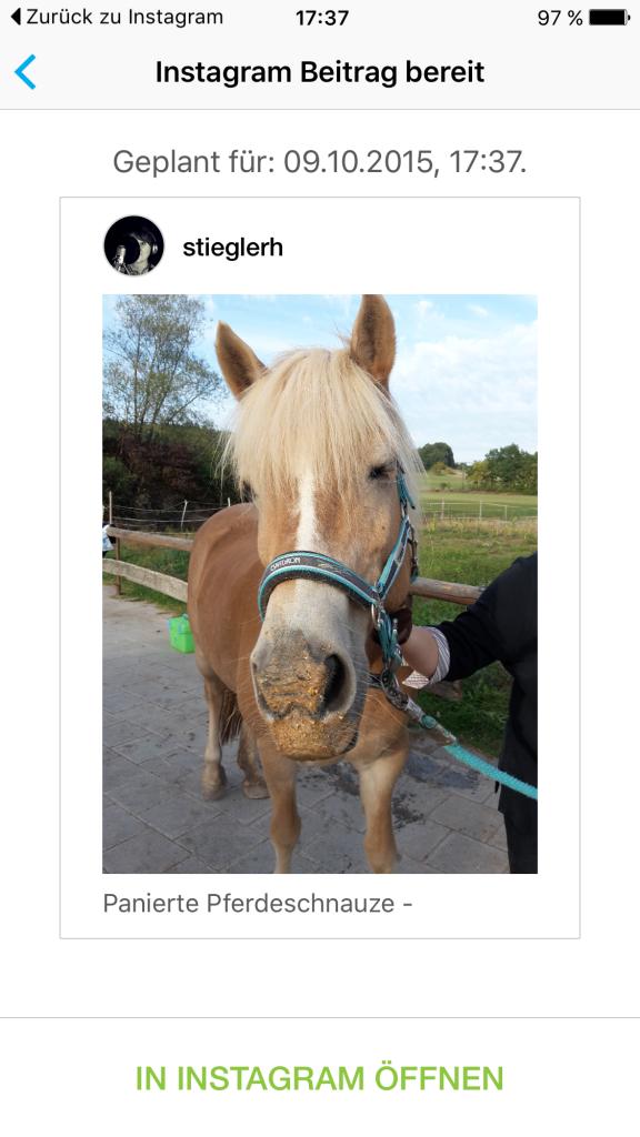 Instagram und Hootsuite