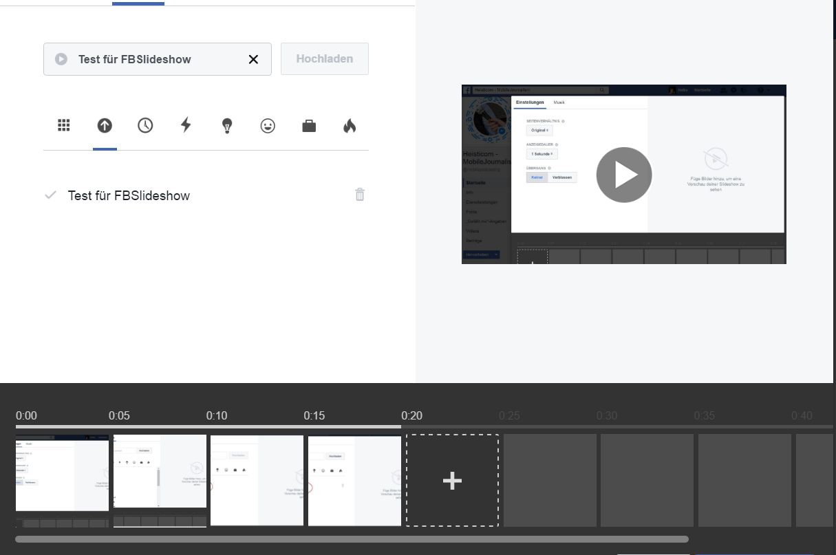 Facebook-Slideshow mit eigener Audiodatei