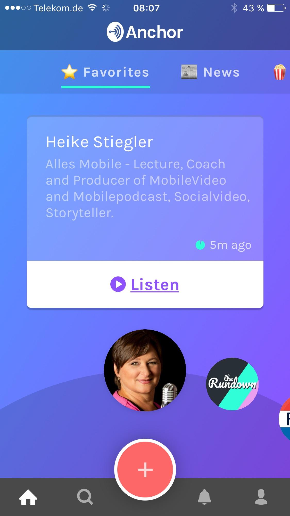 Anchor – produziere Dein eigenes Radioprogramm, nur mit dem Handy